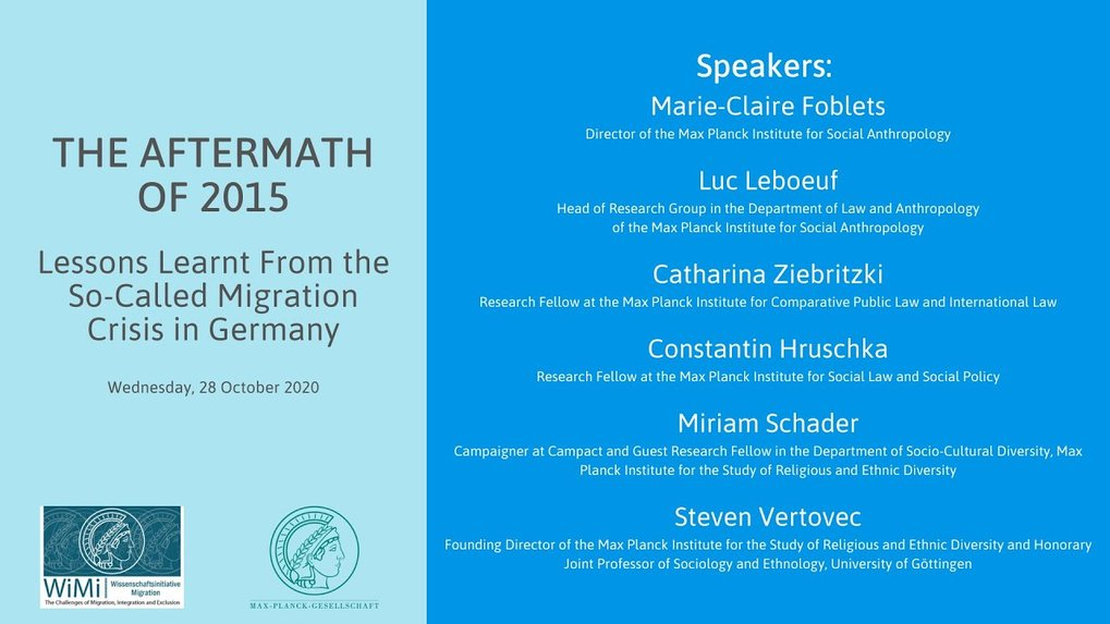 "Webinar recording ""The Aftermath of 2015 – Lessons Learnt From the So-Called Migration Crisis in Germany"""